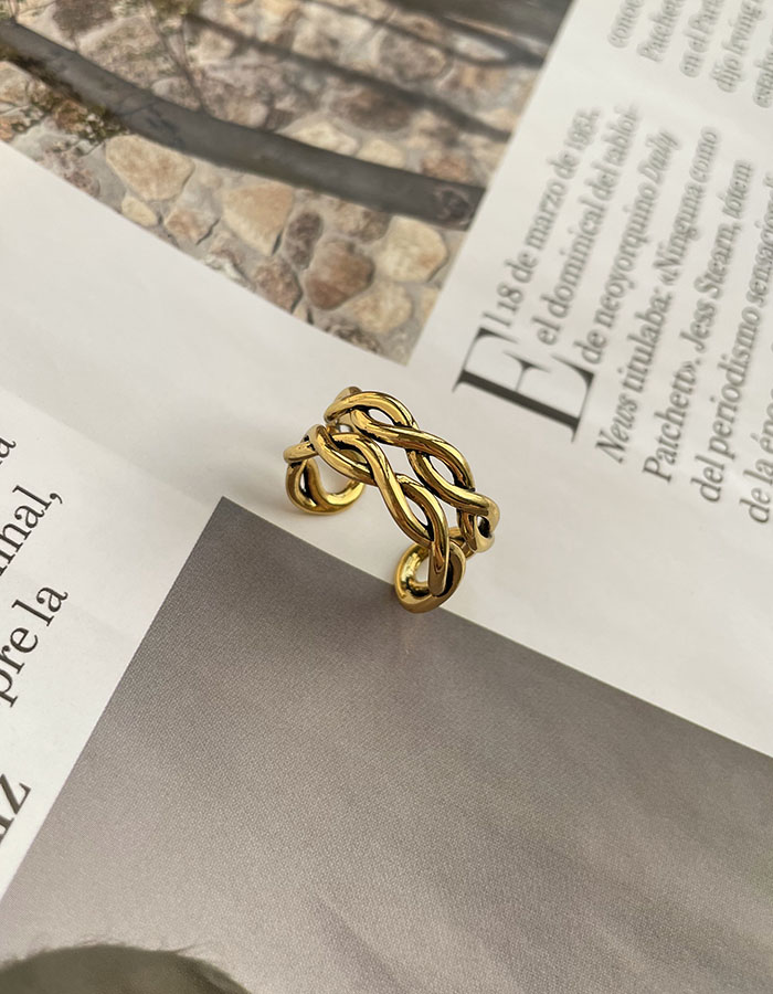 單戒指 - 歐美麻花可調戒指 - 飾品調色盤   迪希雅 deesir