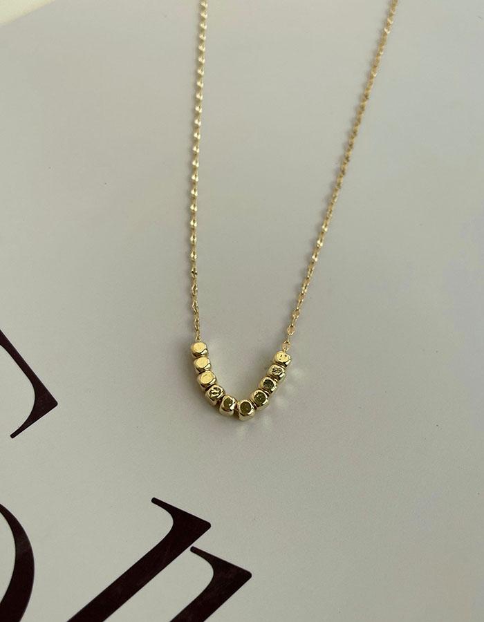 鎖骨鍊|中 - 簡約小方塊項鍊 - 飾品調色盤 | 迪希雅 deesir